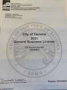 TCR Tacoma Business License